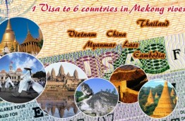Just 1 visa can visit 6 countries in Mekong River